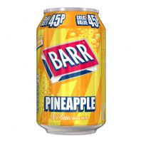 Barrs 45p cans 24 x 330ml Pineapple